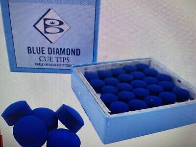 Full Box (50) Usa Blue Diamond 11 Mm Genuine Pool Billiard Snooker Cue Tips