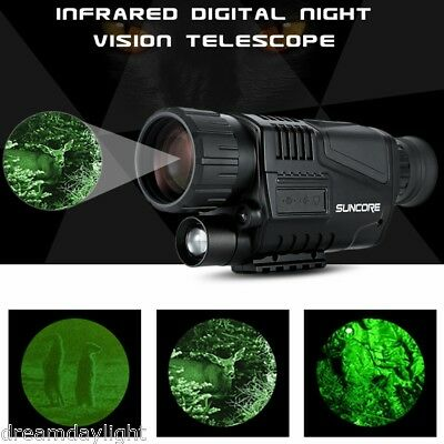 5X40 Infrared Dark Night Vision IR Monocular Telescope Digital Camera Hunting