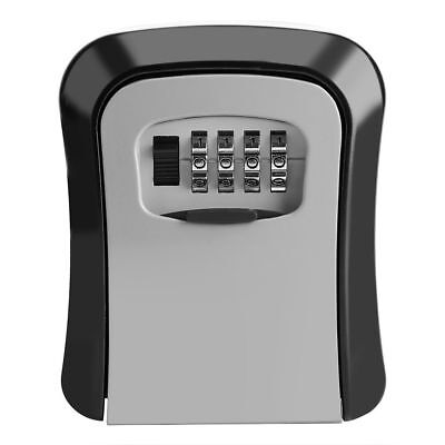 Wall Mounted 4 Digit Combination Key Lock Box Safe Security Storage Organizer