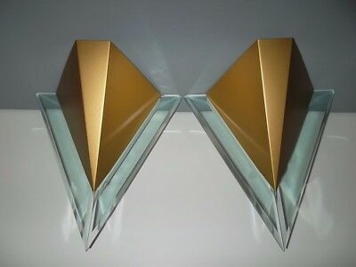 Wall (Sconce) Light Fittings X 2 (Pair) - Art Deco Style In Excellent Condition