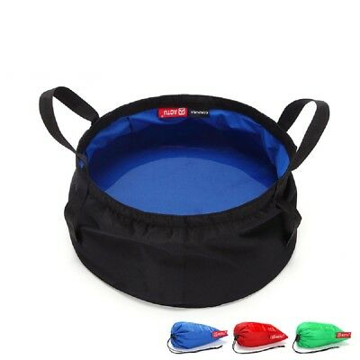 8.5 L Camping Ultralight Folding Water Washbasin Bucket Portable For Outdoors