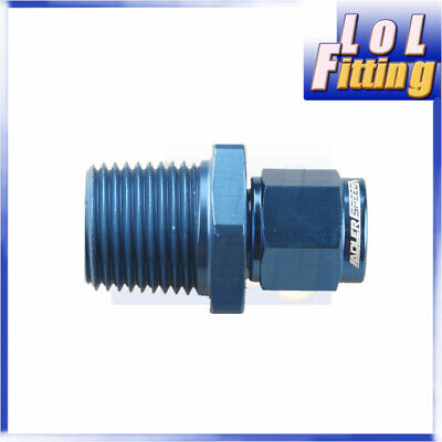 """Straight AN6 AN-6 Swivel Female to 1/2"""" NPT Male Adapter Aluminum Fitting Blue"""