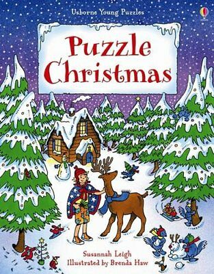 Puzzle Christmas (Usborne Young Puzzles)-Susannah Leigh, Brenda Haw