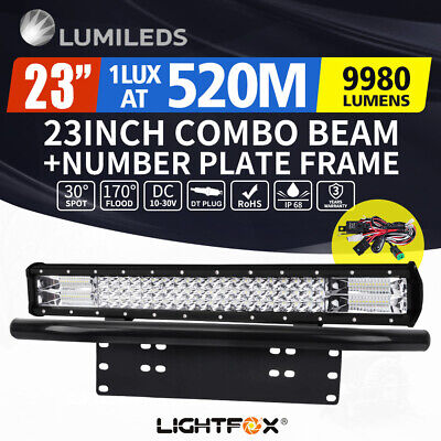 20INCH CREE LED Light Bar Triple Row Combo Beam Work Driving Lamp 5D Offroad 4WD