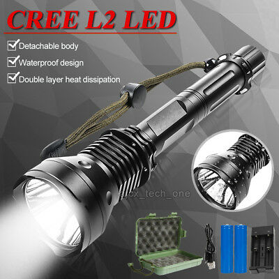 5000LM CREE XM-L T6 USB LED Zoomable18650 Rechargeable Battery Flashlight Torch