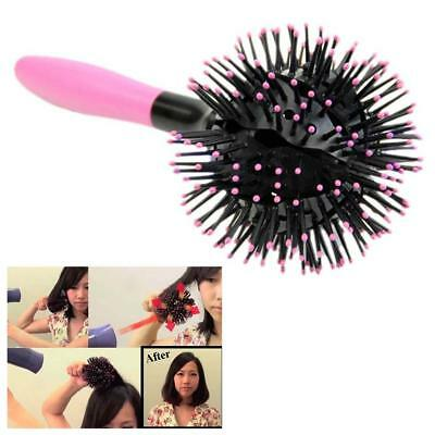 360° 3D Ball Bomb Curl Brush-Styling Salon Round Hair Curling Curler Comb Toolk