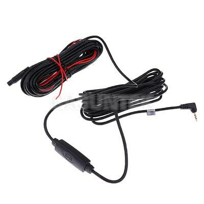 Car Rear View Camera 5-Pin to 2.5mm Extension Black Cable with Amplifier 10M