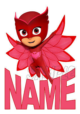 Pj Masks - Owlette Personalised Birthday T-Shirt Iron On Transfer / Sticker