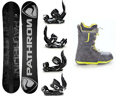 Snowboard Pathron Draft Grey + Raven Bindungen + Boots Raven Team - Neu!