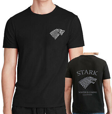 Game Of Thrones T Shirt Winter Is Coming Stark Winterfell Cotton Tee shirt