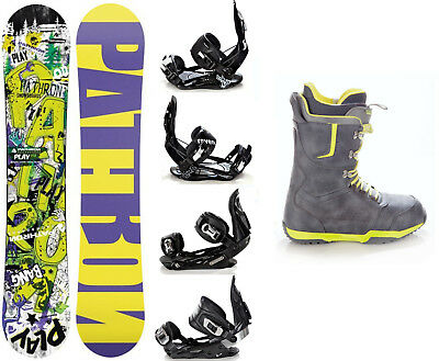 Snowboard Pathron Play Pro Rocker + Raven Bindungen + Boots Raven Team - Neu!