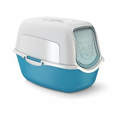 Rotho MyPet Cat Toilet, Aqua/White