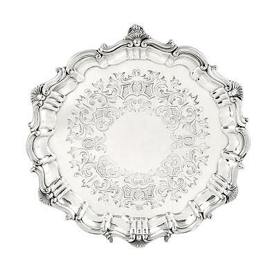 "Antique Victorian Sterling Silver 8"" Tray  - 1866"