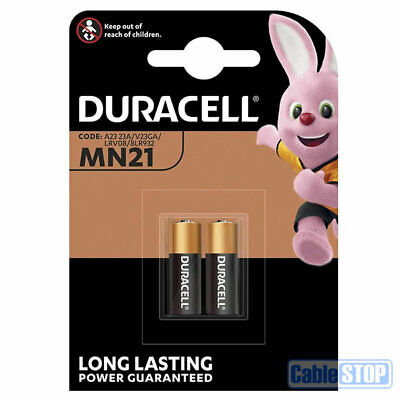 2 x Duracell MN21 Batteries * EXPIRY DATE: 2023 * LR23, 23A, 23AE, L1028, LRV08
