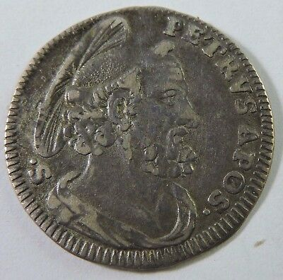 Papal States 1745 1 Grosso Silver Coin