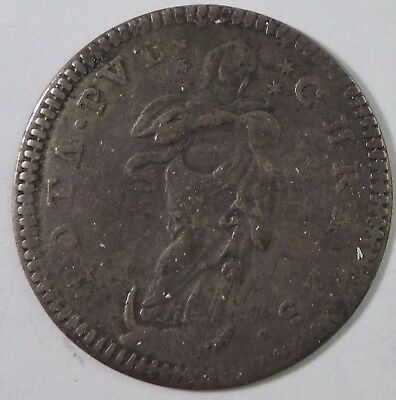 Papal States 1753 1 Grosso Silver Coin