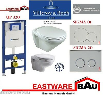 Geberit Duofix UP 320 Concealed cistern Set with Villeroy & Boch WC wall Omnia