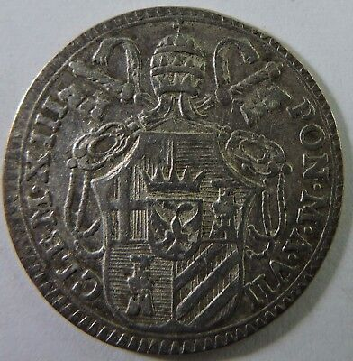 Papal States 1764 1 Grosso Silver Coin