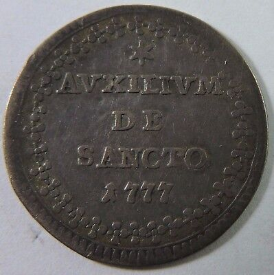 Papal States 1777 1 Grosso Silver Coin