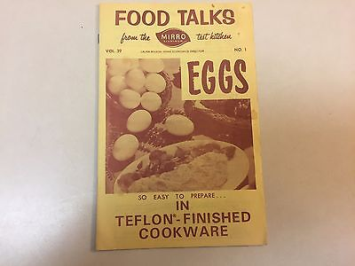 Vintage Food Talks From The Mirro Test Kitchen No.1 Eggs Recipes