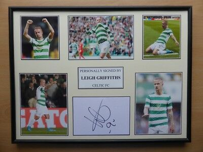2017-18 Leigh Griffiths Signed Celtic Multi Picture Display (11453)