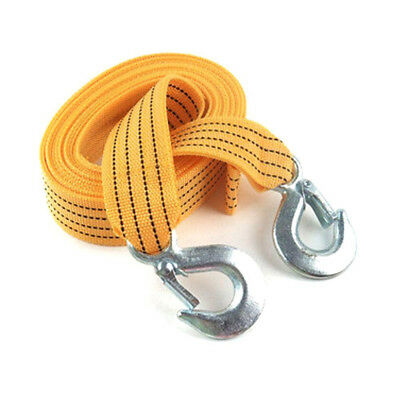 Car Duty Tow 1PC Strap Recovery Heavy Cable Rope Pull Towing Road Van Hooks