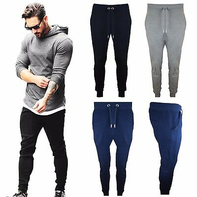 ffd93255 Mens New Slim Fit Skinny Designer Jogging Joggers GYM Sweat Pants Trousers  S-XL