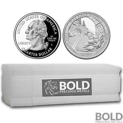 2015-S Silver Proof ATB Quarter Roll (40 Coins) - BLUE RIDGE PARKWAY