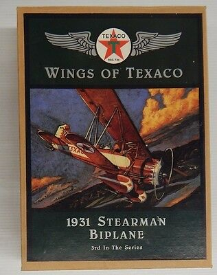 Wings of Texaco 1931 STEARMAN BIPLANE 3rd In The Series Coin Bank - NIP