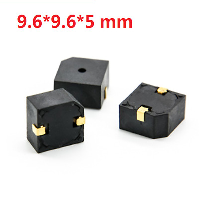 1/2/5/10Pcs 9.6*9.6*5mm 85dB Electromagnetic Active DC SMD Buzzer For GPS