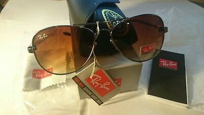Ray Ban RB8301 Tech Sunglasses Gunmetal Frame, Non-Polarized Brown Mirror 59mm