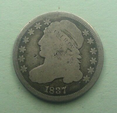 1837 Capped Bust Dime  90 % Silver US Coin M134