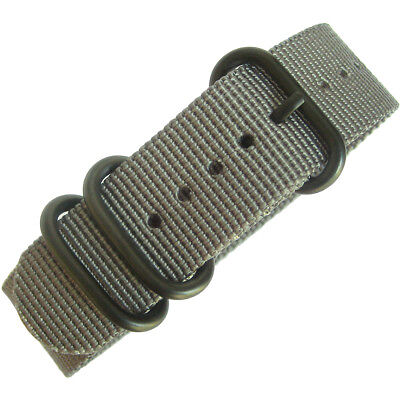 22mm deBeer Grey Ballistic Nylon PVD BUCKLE UTC Military Dive Watch Band Strap