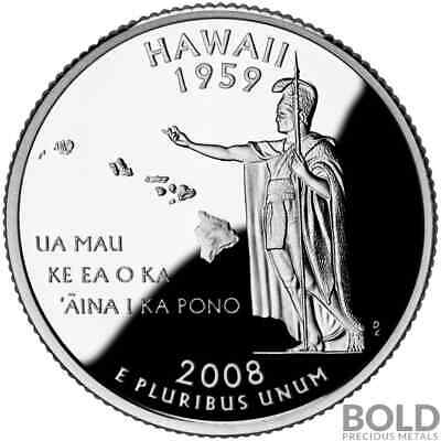 2008-S Silver Proof State Quarter - HAWAII
