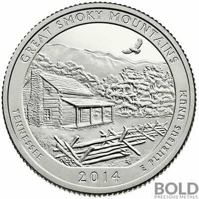 2014-S Silver Proof ATB Quarter - GREAT SMOKY MOUNTAINS