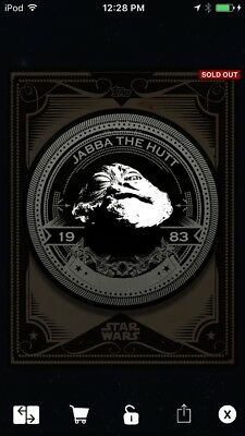 Topps Star Wars Digital Card Trader Black Jabba The Hutt Mint Press 2 Insert