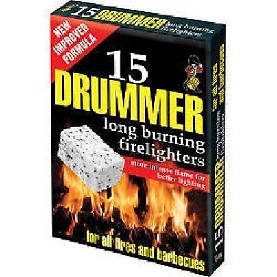 570295 Drummer White Firelighters Pack 15