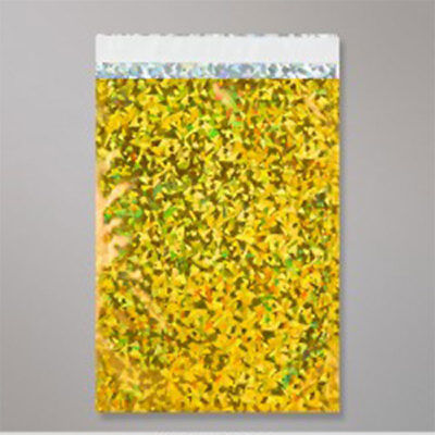 """1000 Metallic Gold Holographic Foil Mailing Bags 6.5""""x9"""""""