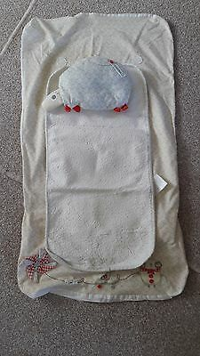 Mamas and Papas Whirligig changing mat cover and pillow