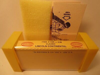 1369 Classic Lincoln Continental Slot Car Label Aurora T-Jet For Yellow End Cap
