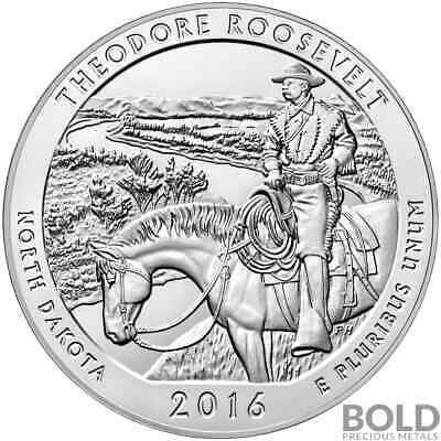 2016 Silver 5 oz ATB Theodore Roosevelt, North Dakota
