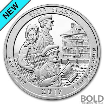 2017 Silver 5 oz ATB Ellis Island National Monument, New Jersey