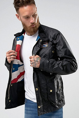 Barbour International Union Jack Waxed Jacket RRP £279