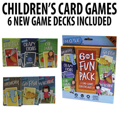 Hoyle Card Games for Kids 6 in 1 Fun Pack – Memory, Crazy Eights, Old Maid, Go F