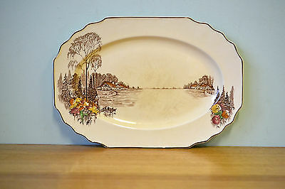 Antique Myott & Sons Co serving tray plate platter ceramic 76 1201 homeland