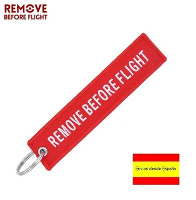 Llavero REMOVE BEFORE FLIGHT Avión A380 777 Airbus Maletas Mochilas Llaves Rojo