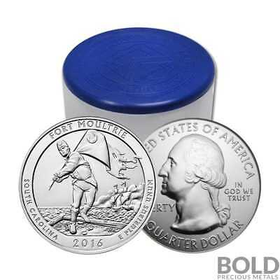 2016 Silver 5 oz Coin ATB Fort Moultrie NP South Carolina Roll (10 Coins)