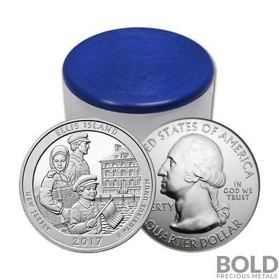 2017 Silver 5 oz Coin ATB Ellis Island National Monument New Jersey Roll (10 ...