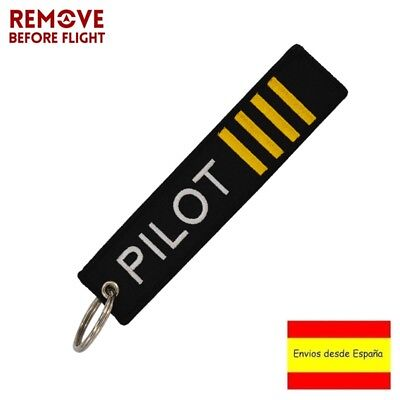 Llavero PILOT PILOTO REMOVE BEFORE FLIGHT Avión A380 777 Airbus Maletas Llaves