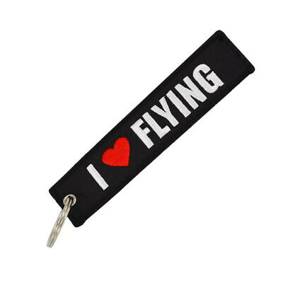 Llavero I LOVE FLYING REMOVE BEFORE FLIGHT Avión A380 777 Airbus Llaves